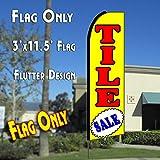 TILE SALE (Yellow) Flutter Feather Banner Flag (11.5 x 3 Feet)