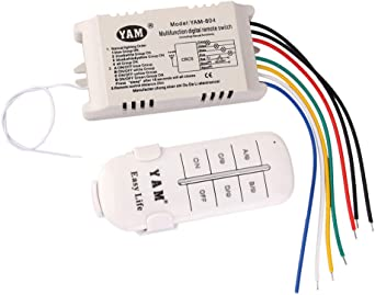 Ac220v Fans Lámpara Interruptor De Pared De Controlador De
