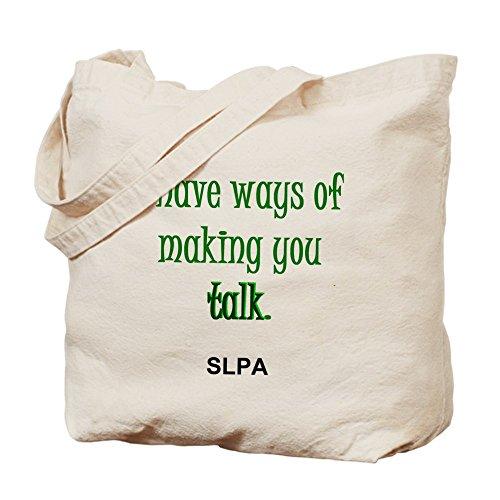 CafePress: Maneras de hacer usted hablar -- SLPA–Gamuza de bolsa de lona bolsa, bolsa de la compra