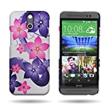 HTC One (E8) Case, Floral Design (Hibiscus Flower) CoverON® Hard Plastic 1pc Back Protective Bumper Cover for HTC One (E8)