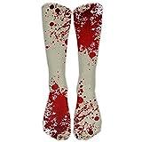 Blood Splatter Casual Athletic Socks Novelty Calf High Running Long Sock Unisex