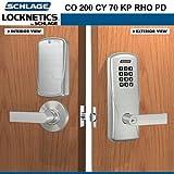 Schlage CO 200 CY 70 KP RHO PD Classroom/Storeroom Keypad Lock,626
