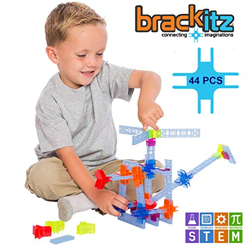 Brackitz Inventor STEM Building Toy for Kids 3, 4 and 5+ Year Olds | 44 Pc Set | Educational Construction Engineering | Fun Learning Toys