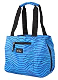 Nicole Miller of New York Insulated Lunch Cooler 11 Lunch Tote (Heat Wave Blue)