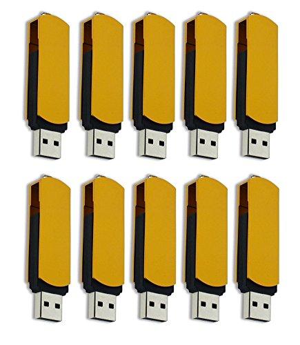 FEBNISCTE 100 Pack 512MB Pendrive Gold Swivel Cheap Bulk USB 2.0 Memory Stick by FEBNISCTE (Image #5)