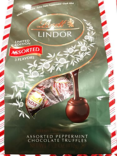Lindt Chocolate Lindor Holiday Assorted Peppermint Bag, 15.2 Ounce
