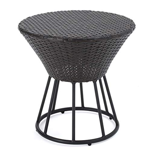 Christopher Knight Home 299590 Crete Outdoor Accent Tables, Multibrown