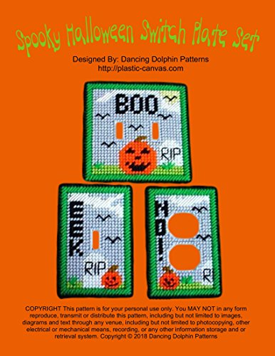 (Spooky Halloween Switch Plate Set: Plastic Canvas Pattern)
