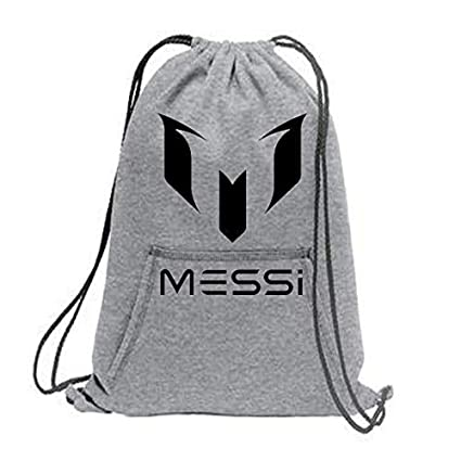 fce40151a6 Crazy Prints Cotton Fabric Drawstring Messi Printed Sports Cinch Backpack   Amazon.in  Bags