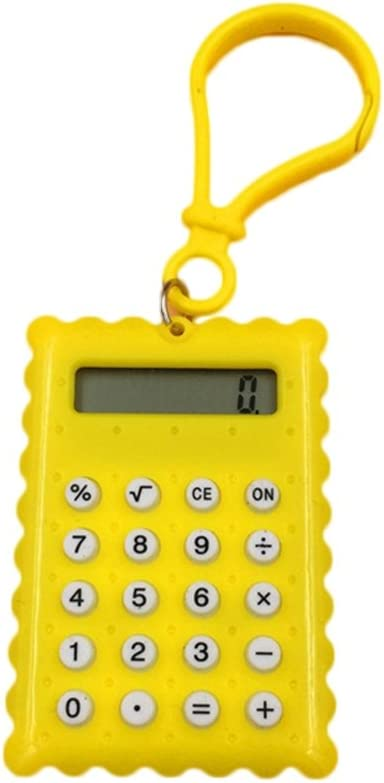von Kalaokei rose Elektronischer Mini-Taschenrechner in Keksform f/ür Studenten Schule und B/üro