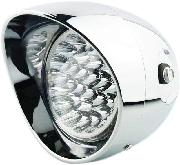 """Custom Motorcycle 4.5/"""" Tri-Bar Visor Bullet Headlight Head Light Lamp For Harley"""