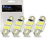 Safego 31mm Festoon LED Dome Canbus Reading LED White Car Interior Light Bulbs 6 SMD 5730 Super Bright Replacement Bulbs LED License Plate Lights Map Lamps No Error,No Polarity Pack of 4