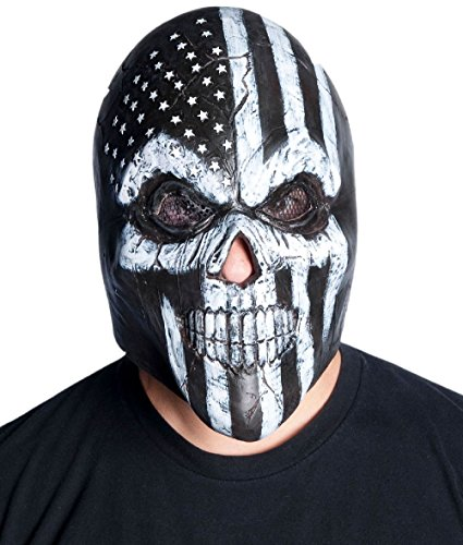 Old Glory Latex Mask Adult Skeleton Biker Skull