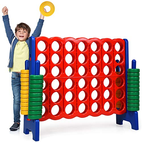 Costzon Giant 4 In A Row Jumbo 4 To Score Giant Games For Kids And Adults Indoor Outdoor Party Family Game 4 Feet Wide By 3 5 Feet Tall With 42 Jumbo Rings Quick Release Slider