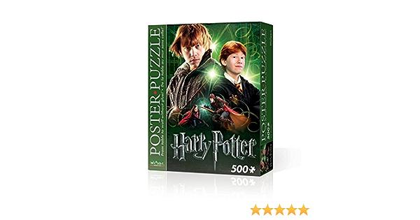 Wrebbit 3D Puzzle Gialamas Harry Potter-Póster de Puzzle Ron, Multicolor (WPP-5004)