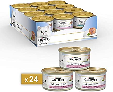 Gourmet - Comida húmeda para Gatos Diamant, láminas de atún en ...