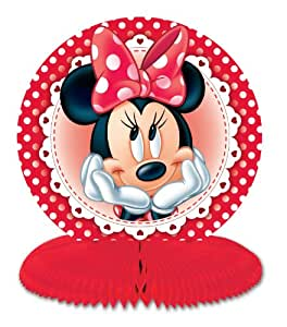 Amscan Disney Minnie Mouse Mini Centre Pieces, Pack of 3, Red