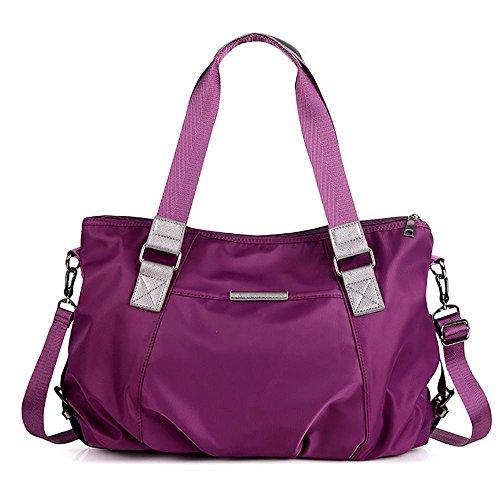 LINGE Bolsa de MS Messenger lona baodan bulto arrojado hombro ocio Oxford , blue purple