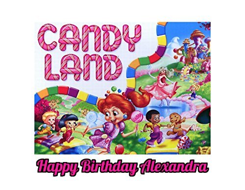 Candy Land Candyland Edible Image Photo Cake Topper Sheet Personalized Custom Customized Birthday Party - 1/4 Sheet - 78752]()