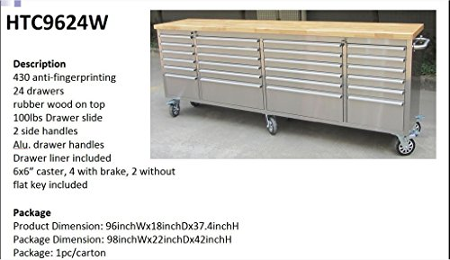 96 Quot Stainless Steel Rolling Tool Cart Chest Cabinet