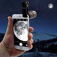 JIKRA Cell Phone Camera Lens 8X Optical Zoom HD Telescope Camera Lens Camera Lens Kit for iPhone, Android, Samsung Mobile Phones and Tablets