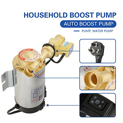 220V 100W Auto Household Stainless Steel Boost Pump for Tap Water Pipeline Sink facucet Shower Pressure Water Booster by Hilitand (Image #4)