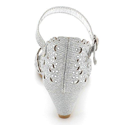 Mariage Brillant Dames Soir F Femmes Diamante nR80w6Zxq