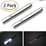 Cat Catch the Led Interactive LED Light Pointer 2 in 1 Laser & White LED(Pack of 2)