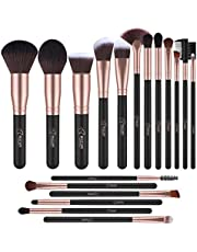 Makeup Brushes,BESTOPE 18PCS Makeup Brush Set Kabuki Brushes Synthetic Foundation Blending Blush Face Eyeliner Shadow Brow Concealer Lip Brush Kit (Rose Gold)
