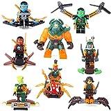 Ninjago NINJA Lloyd Jay Nya Dogshank Doubloon 8 Minifigures Building Toys