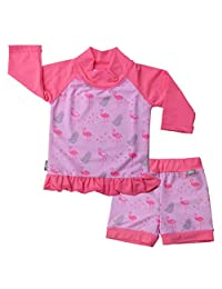 JAN & JUL Kids Long Sleeve Swim-Suit Rash Guard with UPF 50+ Sun Protection, Shirt or Set for Baby or Toddler (Boy or Girl)