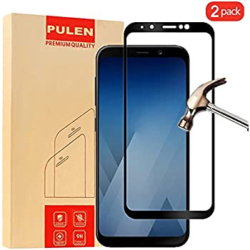 [2 Pack] Samsung A8 Plus Screen Protector, KHAOS Tempered Glass Screen Protector for Samsung Galaxy A8 Plus 9H HD-Clear Ant-Scratch Glass Protector hot sale 2017