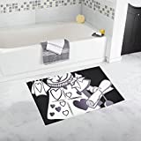 Alice In Wonderland Rabbit Story Animal Fantasy Custom Non-slip Bath Mat Rug Bath Doormat Floor Rug For Bathroom 20 X 32 Inch