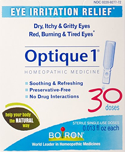 Boiron Optique 1 Eye Irritation Relief Eye Drops, 30 Count (0.013 fl oz (Eye Irritation Relief)