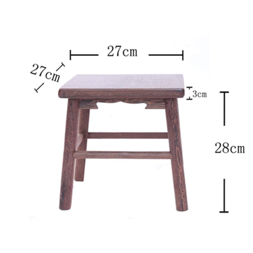 C B.YDCM Wooden Bench- Stool Small Square Stool Restaurant Home Wooden Stool Dining Stool Low Stool Solid Wood Bench Bench - Wood Bench (color   B)