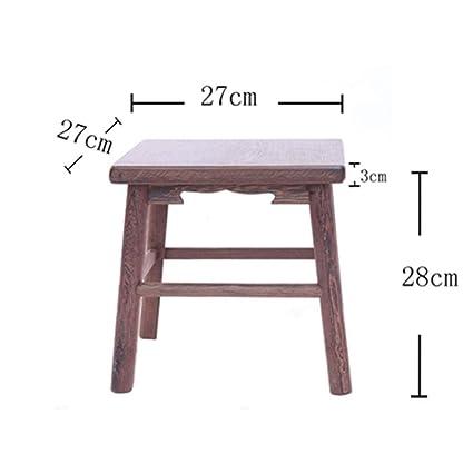 Excellent Amazon Com B Ydcm Wooden Bench Stool Small Square Stool Inzonedesignstudio Interior Chair Design Inzonedesignstudiocom