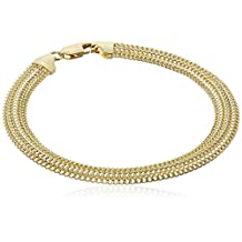 14k Yellow Gold Domed Curb Link Bracelet, 7.5""