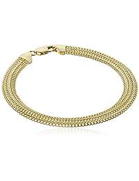 "14k Yellow Gold Domed Curb Link Bracelet, 7.5"""
