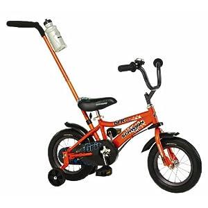 Schwinn Grit Steerable Boy's Bicycle With Training Wheels, 12 Inch Wheels, Orange