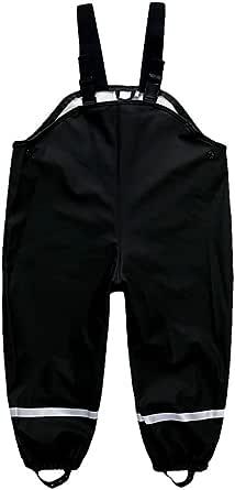 DAWILS Pantalones Impermeable Unisex Niños, Intemperie Pantalón de Lluvia Bebé-Niños Niñas