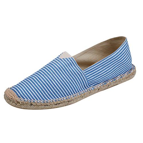 Vogstyle Unisex-Erwachsene Espadrilles Slipper Flats Ballerinas Slip-On Segeltuchschuhe Art 6 Blau