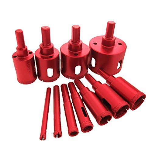 - 11Pcs 6-50mm Diamond Coated Drill Bit Set Marble Granite Ceramic Tile Glass Hollow Core Drill Bits Diamond Hole Saw Drill Bits Drilling Power Extractor Remover Tools Drill Cutter Hole Saw Cutter Tool