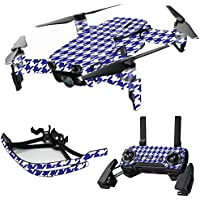 MightySkins Skin for DJI Mavic Air Drone - Blue Houndstooth | Max Combo Protective, Durable, and Unique Vinyl Decal wrap cover | Easy To Apply, Remove, and Change Styles | Made in the USA