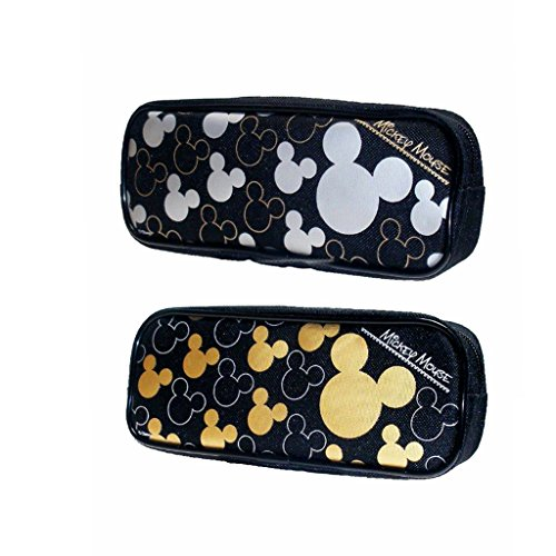 Mickey Mouse Pencil Case Set of 2 Gold & Silver