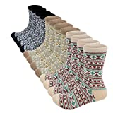 6 Pairs Womens Vintage Style Soft Socks (6pairs wave(each2))