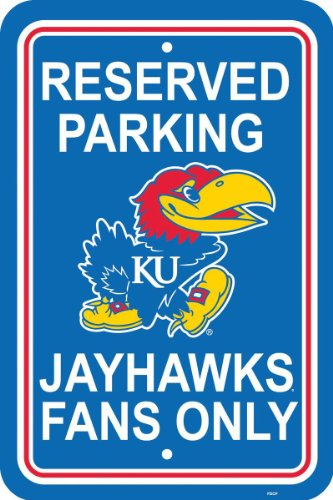 NCAA Kansas Jayhawks 12-by-18 inch Plastic Parking -