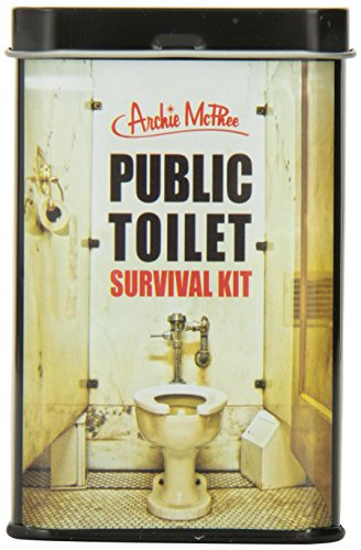 You never know when you're going to encounter a public toilet with some cleanliness issues, so make sure you're prepared with this Public Toilet Survival Kit. Each kit includes one toilet seat cover, two antiseptic wipes and one pair of latex...