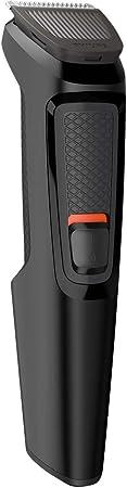 Philips MULTIGROOM Series 3000 Cara 6 en 1 MG3710/15 - Afeitadora (Negro, Rectángulo, Barba, Oído, Ceja, Nariz, Acero inoxidable, 60 min, Integrado)