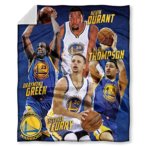 Officially Licensed NBA Golden State Warriors HD Player Silk Touch Throw Blanket ()