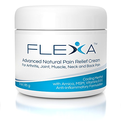 FLEXA Advanced Natural Arnica and Menthol Pain Relief Cream: Powerful, fast cooling relief of Arthritis, Joint and Muscle Pain